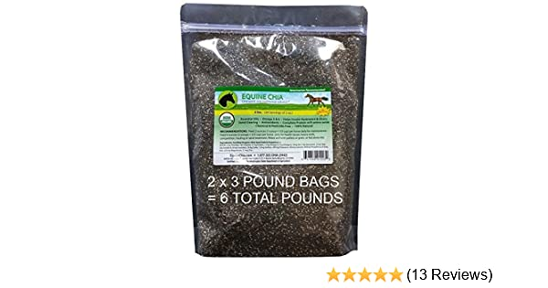 Amazon.com : Equine Chia Brand - 6 Pounds of Certified Organic Chia Seeds in 2 x 3 Pound Bags : Garden & Outdoor