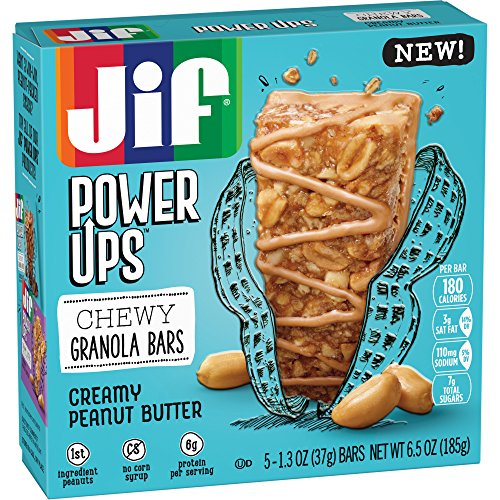 Jif Power Ups Creamy Peanut Butter Chewy Granola Bars, 6.5 Oz ()