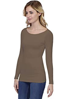 f8d047a022 Rendez Vous Paris T-Shirt col carré Manches Longues en Modal Clara ...