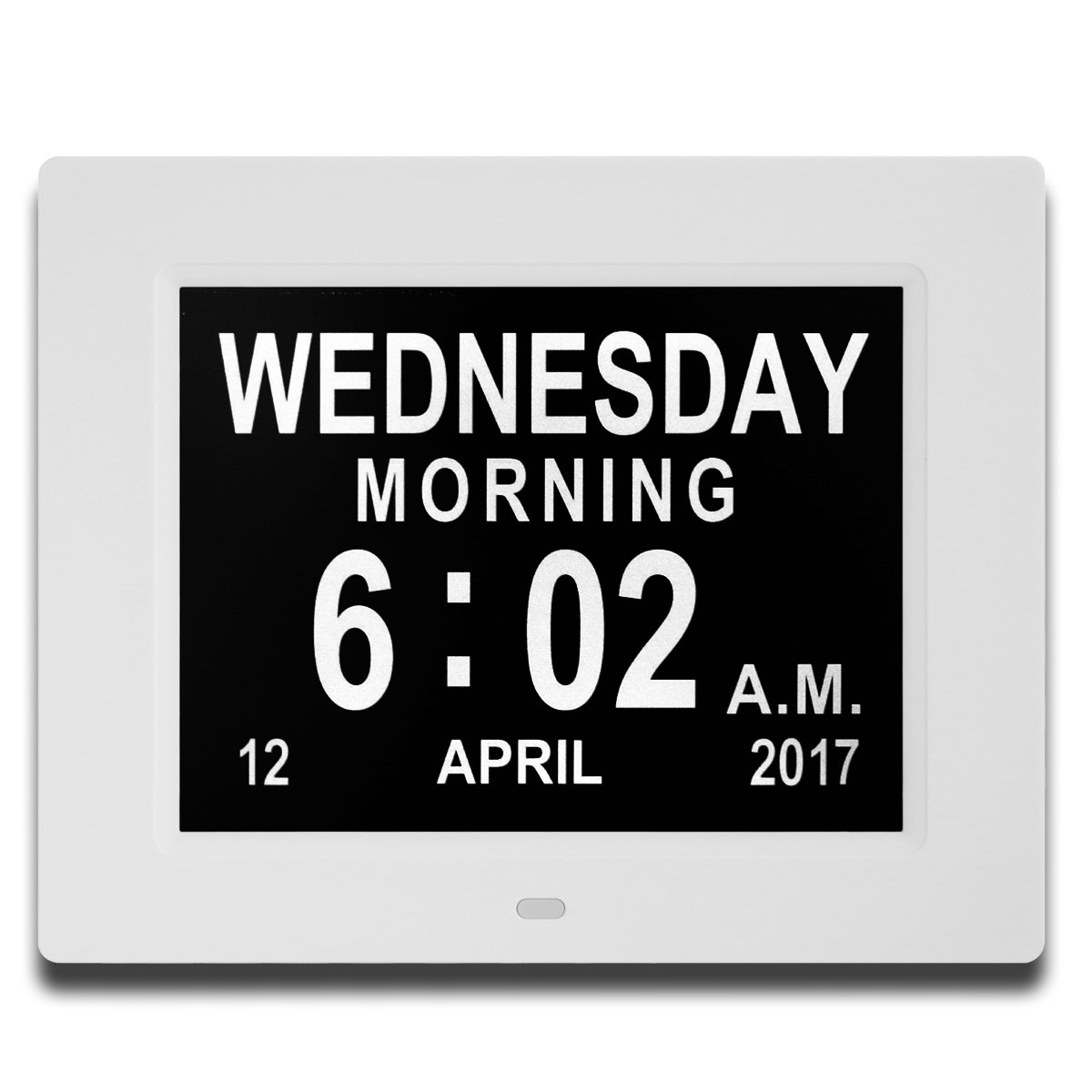 Kaylocheer Updated Version Digital Wall Clock- Alarm clocks- Kitchen LED Clock- Extra Large Electronic Calendar Day Clock with Battery Backup- Large Numbers (White)