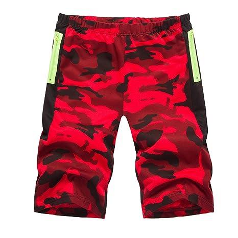 LaoZanA Hombre Pantalones Cortos Militar Verano Pantalón De ...