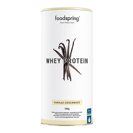 foodspring - Proteína Whey - Sabor Vainilla - Nutre tu ambición - 80% de proteína