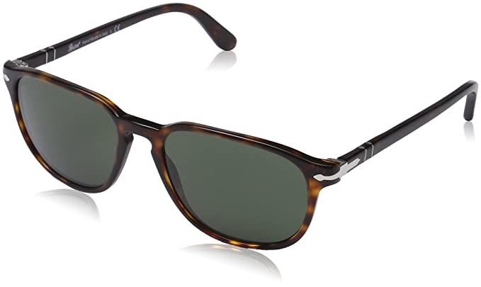 3a3714680d Persol Square Sunglasses in Havana Crystal Green PO3019S 24 31 52