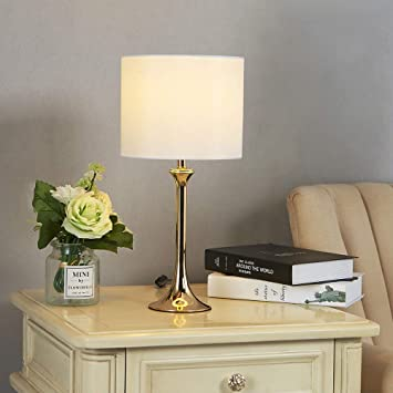 Delica Home Modern Trumpet Design Table Lamp Luxurious Gold Table