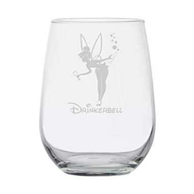 Fairy Gifts - Drinkerbell - Disney Wine Glass - Funny Birthday Gifts - Movie Themed - Couples Gifts - Disney Princess - Fairy tales - Mermaids - Best Friend Birthday Gift - Adult Tinkerbell Inspired