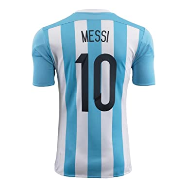 fe718751b Amazon.com  adidas Messi  10 Argentina Home Soccer Jersey 2015  Clothing