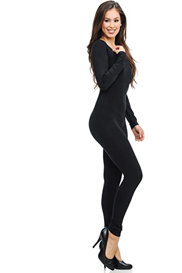 9cbc06eb6e05 World of Leggings Women s Premium Basic Full Nylon Spandex Jumpsuit - Shop  6 Colors