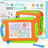 7TECH Magnetic Drawing Board Erasable Colorful Writing Sketching Pad For Kids Learning Toys Green