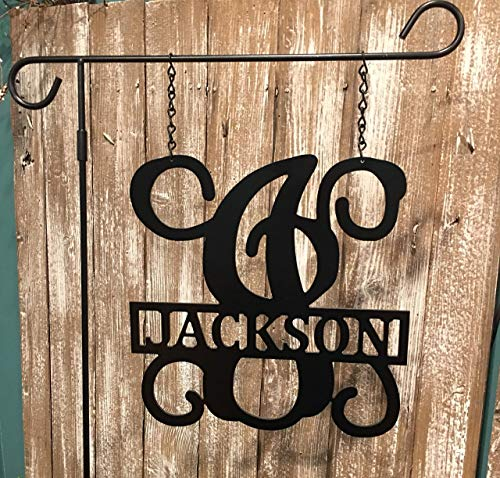 Personalized Lamp Post Name Sign Custom Family Last Name Outdoor ACM Metal Initial QUICK SHIPPING (Lamppost House Number)