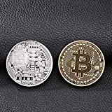 Connoworld BTC Bitcoin Commemorative Coin Art Collectible Souvenir Gifts Home Decoration - Random Color