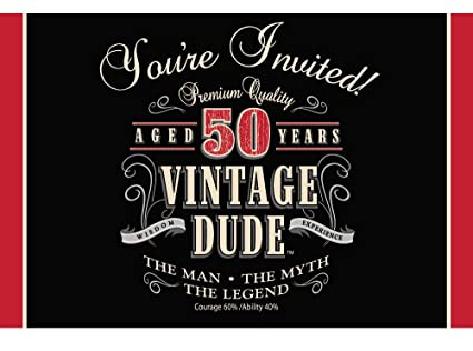 Amazon creative converting vintage dude 8 count 50th birthday creative converting vintage dude 8 count 50th birthday party invitations filmwisefo