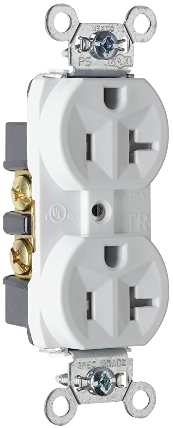 Legrand - P & Seymour TR5362WCC12 Receptacle Duplex Tamper Resistant on