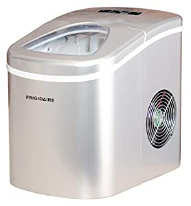 Frigidaire EFIC108-SILVER Counter top Portable, 26 lb per Day Nugget Ice Maker Machine, Silver