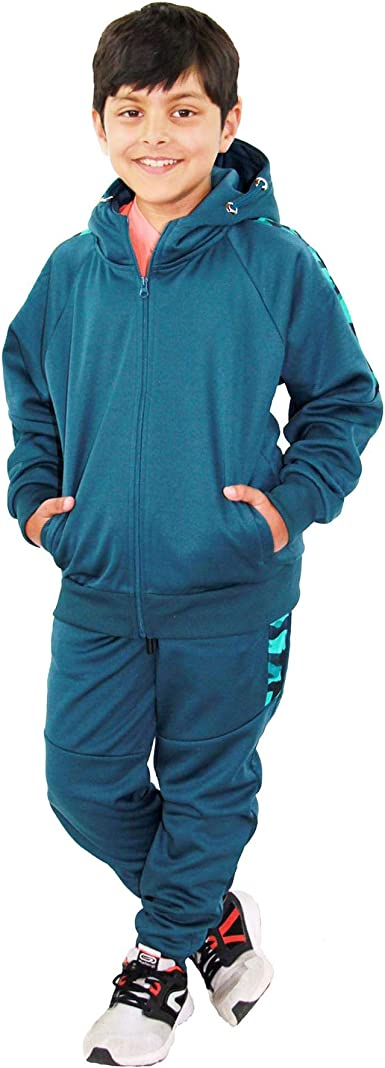 Kids Boys Girls Tracksuits Pedal Power Charcoal Hooded Top Bottom Jogging Suits