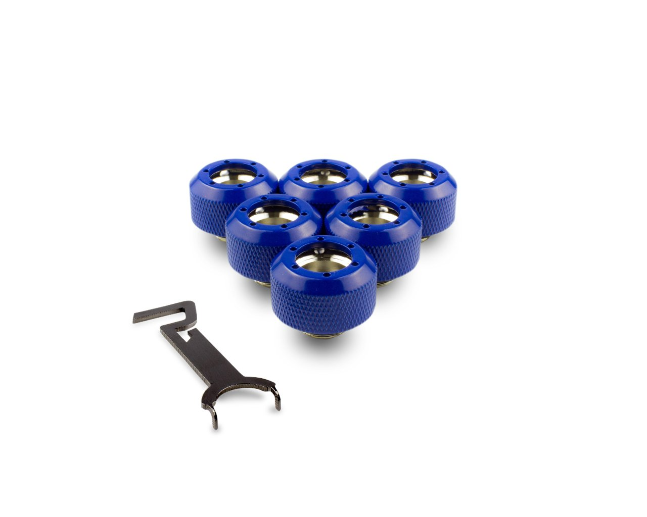 PrimoChill 1/2in. Rigid RevolverSX Series Fitting - True Blue - 6 Pack