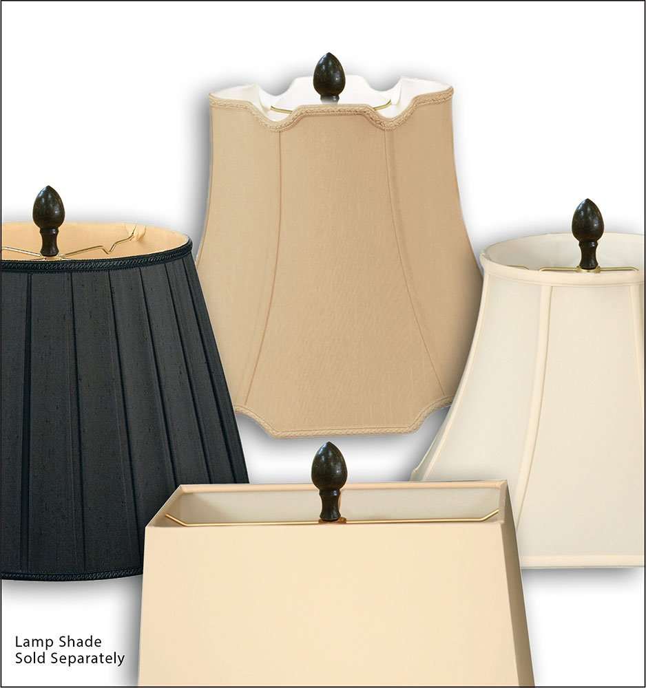 Royal Designs Egg Lamp Finial for Lamp Shade Polished Brass
