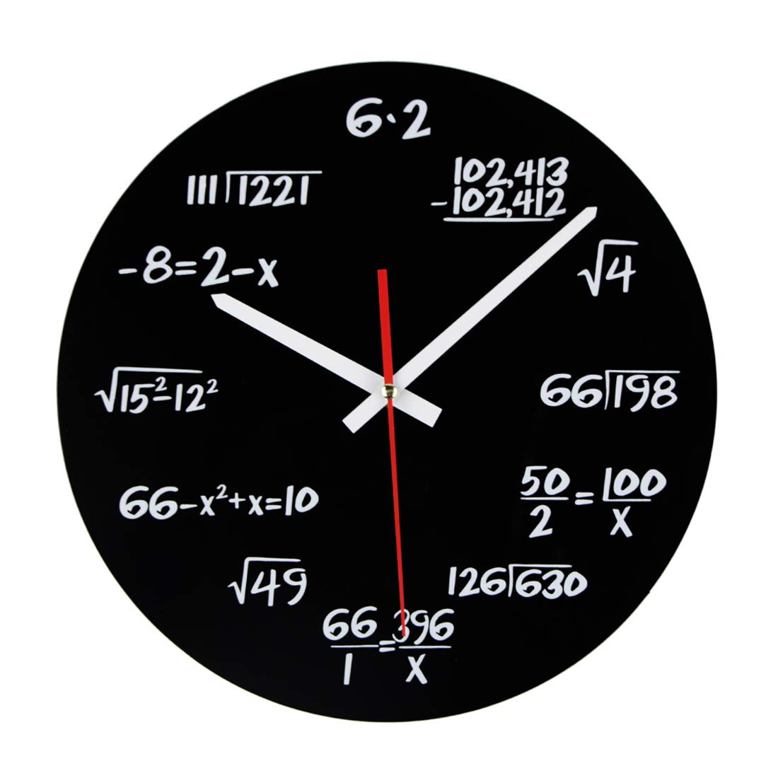 Spieland Vintage Horloge Murale Silencieuse Pendule Science Engineering Math Mé tal Wall Clock Dé coration Maison Bureau Salon 30 * 30 * 4cm
