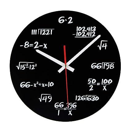 Jo332Bertram Reloj de Pared Moderno, Relojes de Pared Silencioso para Hogar Decoración