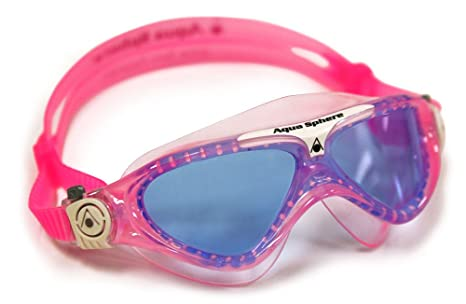 47918d7bc7dab Amazon.com : Aqua Sphere Vista Junior Swim Mask with Blue Lens, Pink ...
