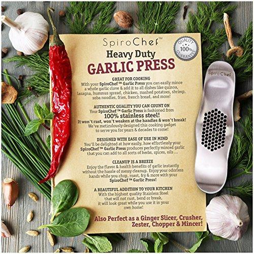 Spirochef Heavy Duty Garlic Press