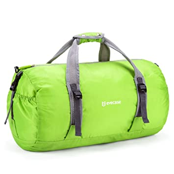 Evecase Foldable Duffle Bag Packable Travel Lightweight Storage Bags Gym Luggage Duffel