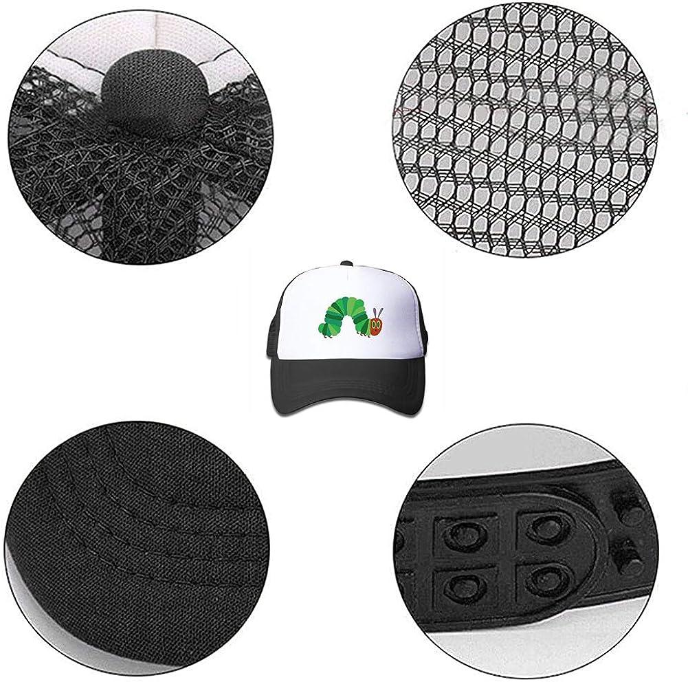 Waldeal Boys Hungry Caterpillar Trucker Hat Adjustable Mesh Ball Caps Black
