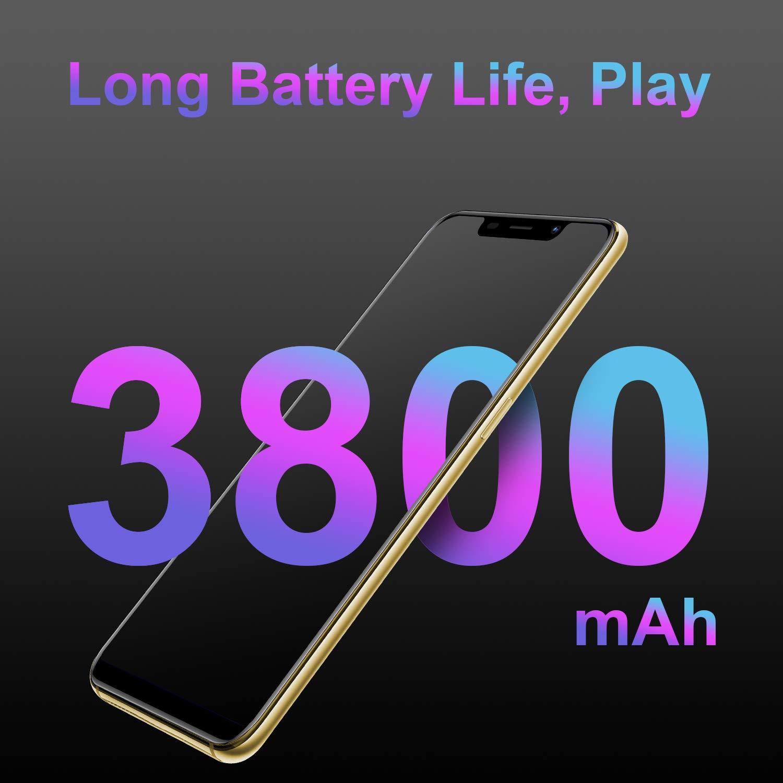 T/él/éphone Portable D/ébloqu/é V Mobile XS Pro 3Go RAM 32Go ROM Ecran 5,85 Pouces 19 9 HD 5MP Cam/éras Face ID Dual SIM Android 7.0 Smartphone Pas Cher Or 3800mAh Dual 13MP