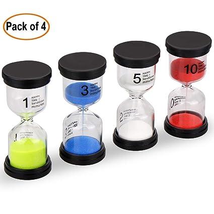sand timer emdmak 4 colors hourglass sandglass sand clock timer 1min 3mins 5mins