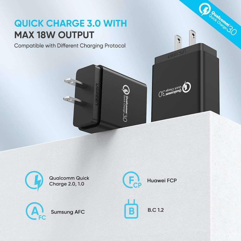 Amazon.com: UGREEN cargador de pared 3.0 de carga rá ...