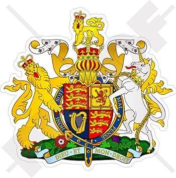 United Kingdom Royal Coat Of Arms Badge Crest Uk 90mm 3 6 Vinyl Bumper Sticker Decal