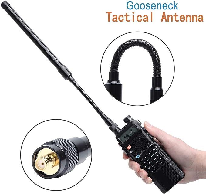 ABBREE AR-148 Antena táctica Plegable para Radio de Dos vías ...