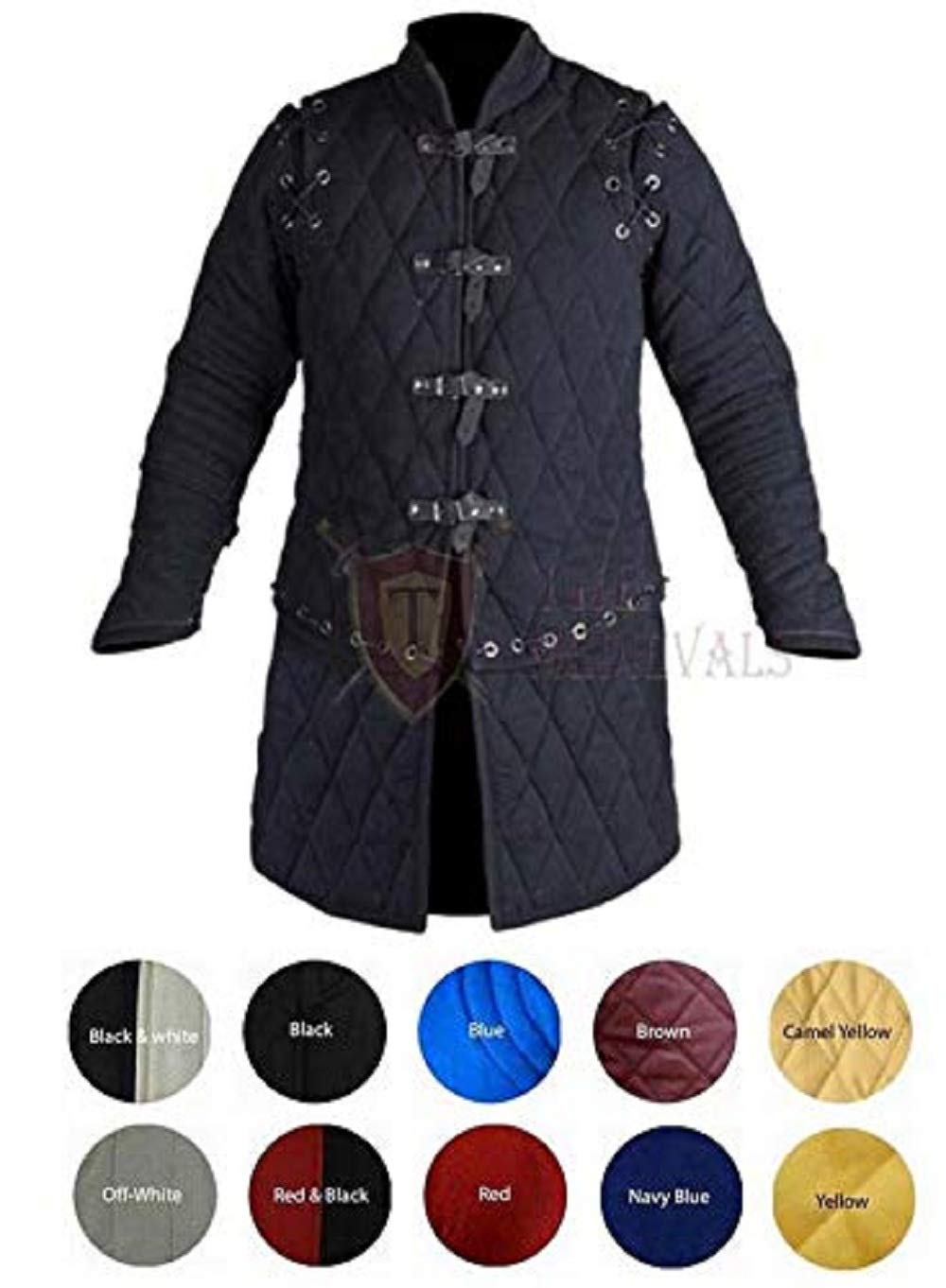 Medieval Reenactment Only Gambeson Fancy Design Yellow /&Black Color New Costume