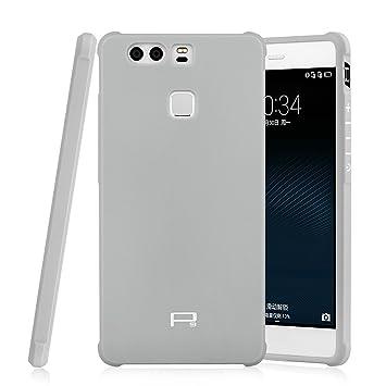 Hevaka Blade Huawei P9 Funda - Suave Silicona TPU Carcasa Smart Case Cover Para Huawei P9 - Gris