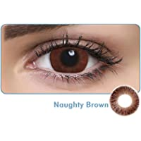 Aqua Color Daily Disposable Color Contact Lens (10 Lens/Box/Plano) (Naughty Brown, 0.00)