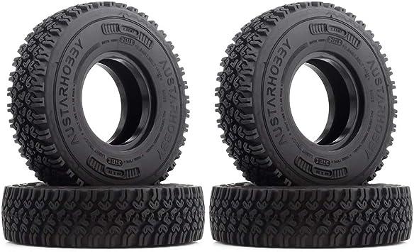 INJORA RC Neumáticos 4PCS 1,55 Neumáticos para 1:10 RC Crawler MST JIMNY Axial AX90069 D90 TF2 Tamiya CC01 LC70