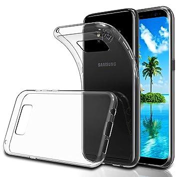 POOPHUNS Funda Carcasa Samsung Galaxy S8, Fundas Carcasas Case Caso Transparente para Samsung Galaxy S8, Ultra Fina, Cristal Claro Absorción Silicona ...