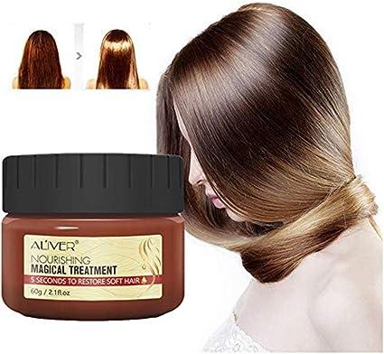 99AMZ Magical Treatment Mask 5 Seconds Repairs Damage Restore Soft Hair 60ml/120ml for All Hair Types Keratin Hair & Scalp Treatment Mascarilla para ...