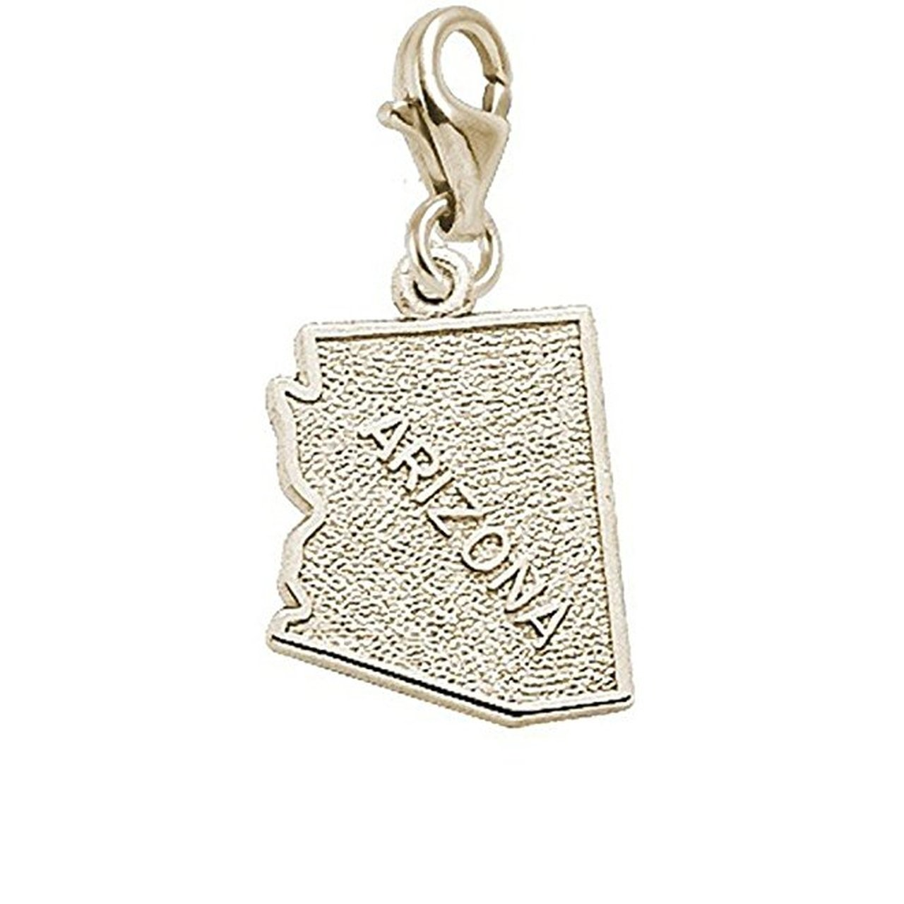 10k Yellow Gold Arizona Charm With Lobster Claw Clasp Charms for Bracelets and Necklaces