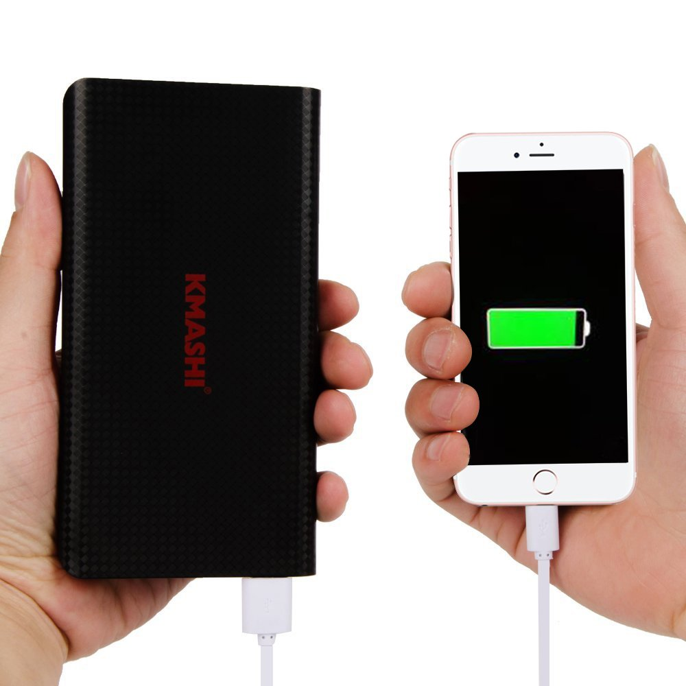 KMASHI 15000mAh External Battery Power Bank, Portable Charger with Powerful Dual USB Output and 2A Input by KMASHI (Image #4)