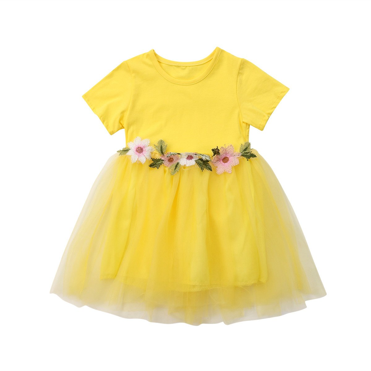 8b9a78cce4c9 Amazon.com: Mornbaby Toddler Kids Baby Girls Knitted Tulle Cap Tutu Dresses  Jersey Dress Outfit: Clothing