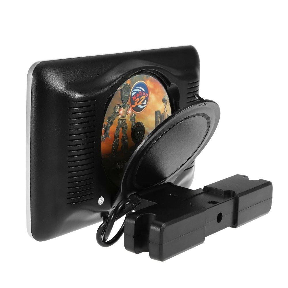 Docooler 10, 1-Zoll-TFT Digital LCD-Schirm-Auto-Kopfst/ü tze DVD-Player Touch-Monitor USB SD-Anschluss Fernbedienung