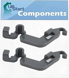 2 Pack W10082853 Dishwasher Tine Pivot Clip Replacement for Whirlpool Wdt720padm2, Whirlpool Wdta50sahz0, Whirlpool Wdt750sahz0, Kitchenaid Kdte254ess2, Whirlpool Wdt970sahz0, Kitchenaid Kdtm354dss4
