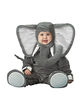 incharacter costumes babys lil elephant costume grey small6 12 months