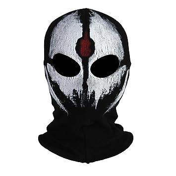 innturt tela Ghost máscara pasamontañas de calavera con capucha