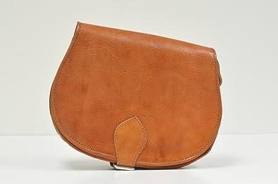 97ddea0dcd2 Large Tan Leather Saddle Bag: Amazon.co.uk: Shoes & Bags