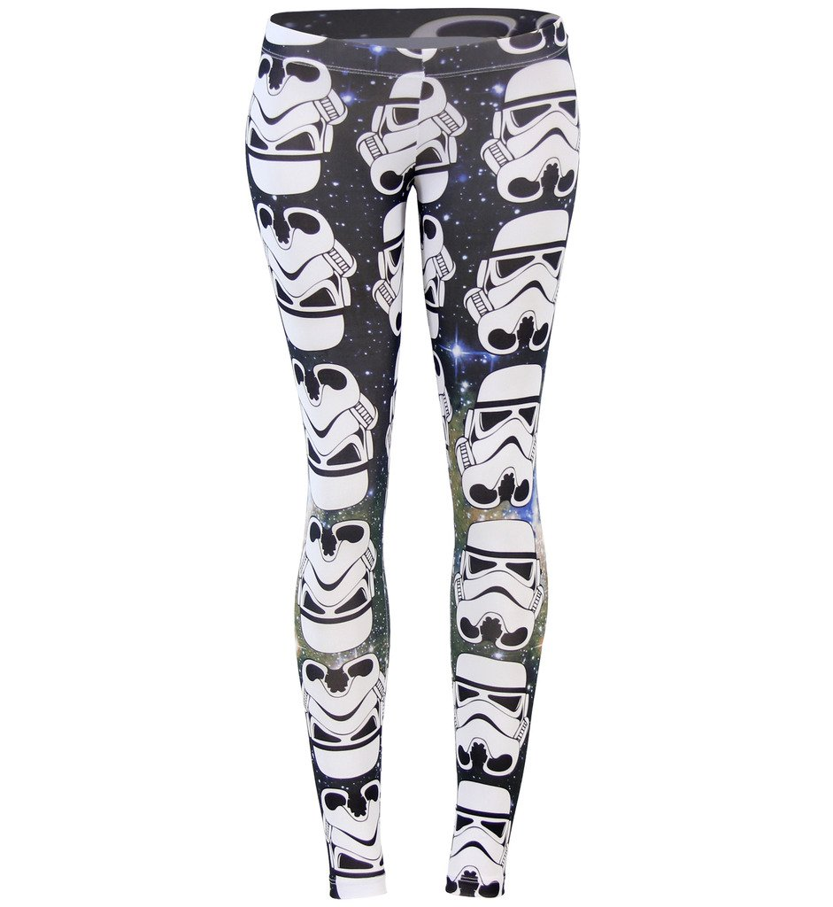 Star Wars Storm Trooper All Over Ombre Leggings (Juniors X-Large)
