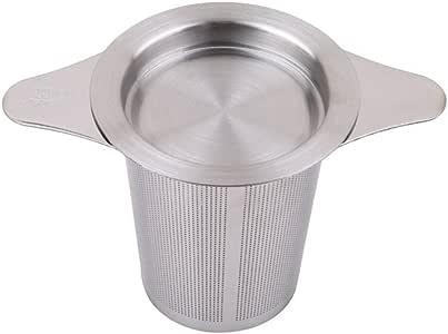 HENGSONG Stainless Steel Tea Infuser Tea Mesh Filter Strainer with Lids Double Handles