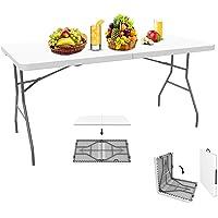 Sotech - Table Pliante,Table en Plastique Robuste, Table Pliante Transportable, 152 x 76 cm,Table en Plastique, Matériau: HDPE, Charge maximale: 100 kg,Blanc