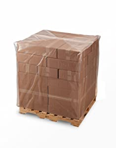 """48 X 46 X 72"""" 1.5 Mil Clear Pallet Covers 75/Roll - Laddawn 10210"""