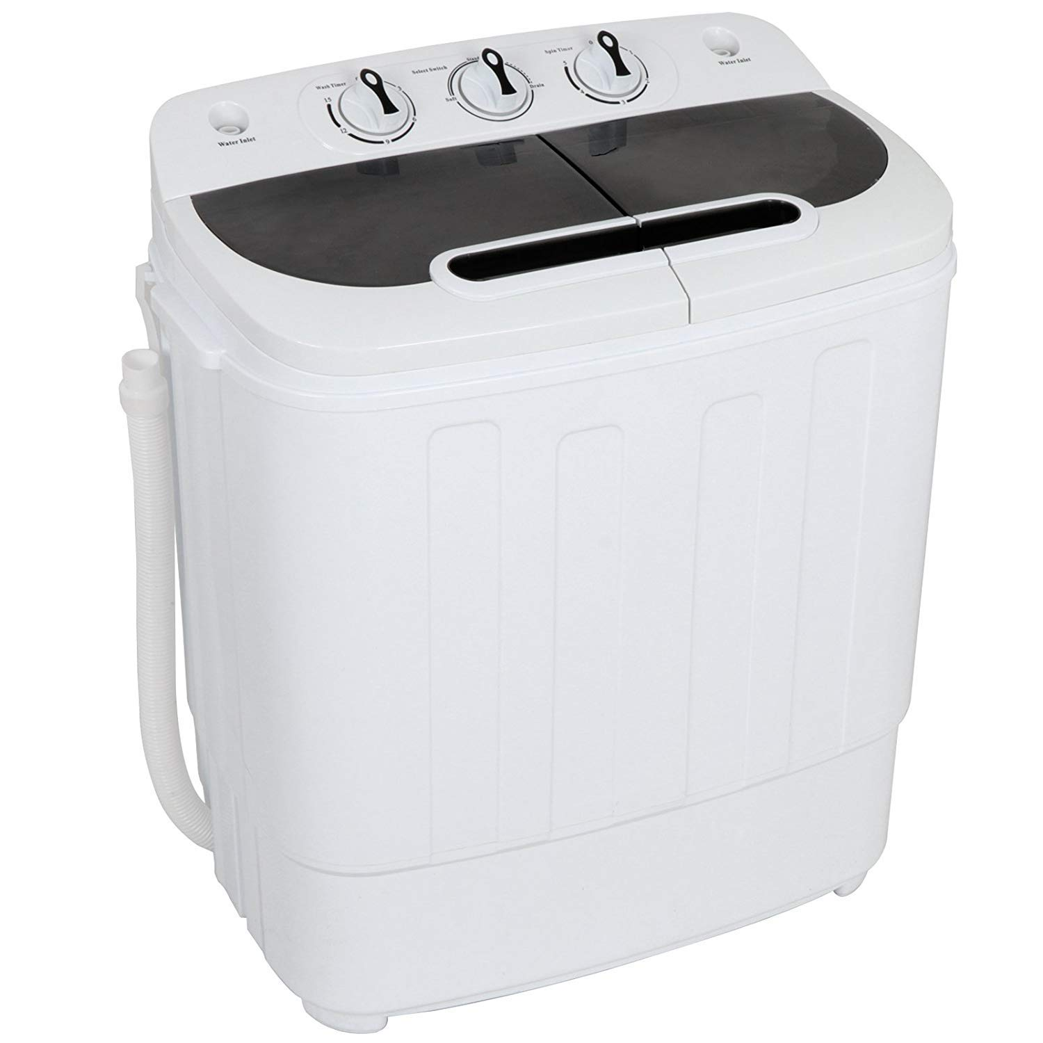 JupiterForce Portable Mini Compact Twin Tub Washing Machine 13 lbs Washer Spain Spinner Dryer Specialty Laundry Machine